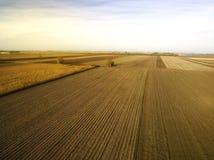 Аграрные поля в осени Стоковые Изображения