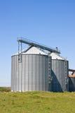 аграрные силосохранилища стоковая фотография rf
