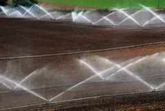 аграрные уровни полива Стоковая Фотография