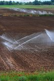 аграрные уровни полива Стоковые Фотографии RF