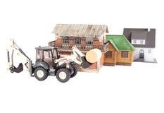 аграрный трактор Стоковая Фотография