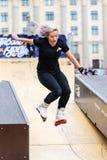 Агрессивная rollerblading конкуренция Стоковое фото RF