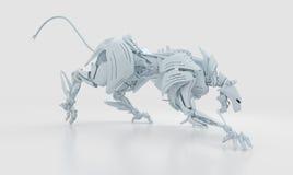 агрессивныйая холодная белизна пантеры Стоковая Фотография