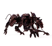 агрессивныйая черная холодная пантера Стоковое Фото