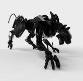 агрессивныйая черная холодная пантера Стоковая Фотография RF