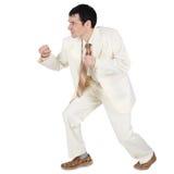 агрессивныйый бизнесмен нападения к белый завещать Стоковое Изображение RF
