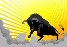 агрессивныйый бык очень Стоковые Фото