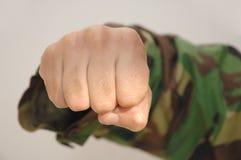 агрессивныйый кулачок стоковые фотографии rf