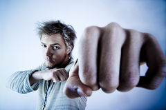 агрессивныйый человек Стоковые Фотографии RF