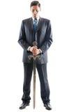 Агрессивный бизнесмен стоковое изображение rf