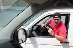 Агрессивный водитель Стоковое Изображение