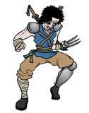 Агрессивный солдат Стоковые Фото