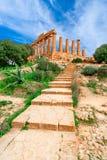 Агридженто, остров Сицилии, Италия: Висок Juno в долине виска, Агриджента стоковые фото