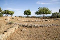 Агридженто - археологическое место Стоковые Фото