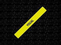Адвокатура в желтом цвете слово ВИЗУАЛЬНОЕ показано Предпосылка черна с плитками стоковое фото rf