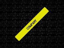 Адвокатура в желтом цвете слово КОМПАНИЯ показано Предпосылка черна с плитками стоковое фото