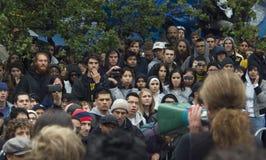 адресовать толпу Стоковая Фотография RF