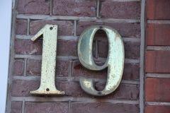 Адрес 19 дома стоковые изображения