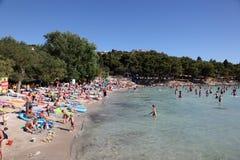 адриатический пляж Хорватия Стоковые Фотографии RF