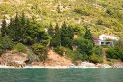адриатический пляж Хорватия Стоковое фото RF