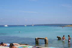 адриатический пляж Стоковое Изображение RF