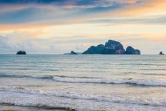 Адриатическое море и красивое море в вечере Стоковая Фотография RF