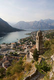 адриатическое море montenegro kotor boko залива стоковые изображения