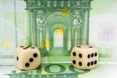 Азартная игра евро Стоковые Изображения