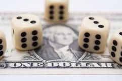 Азартная игра денег Стоковые Изображения RF