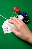 азартная игра он-лайн Стоковое фото RF