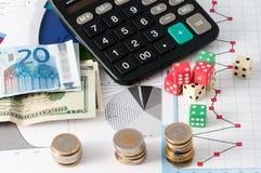 Азартная игра фондовой биржи Стоковые Фото