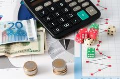 Азартная игра фондовой биржи Стоковое Фото