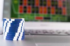 Азартная игра Leptop Стоковое Изображение RF