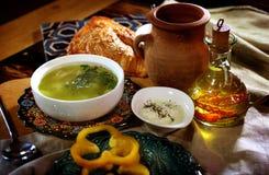Азербайджанские вареники, сделанные из сваренного теста с мясом Стоковая Фотография