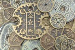 азиатская валюта предпосылки Стоковая Фотография