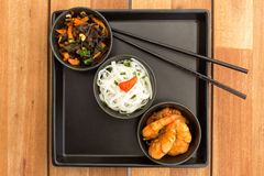 Азиатская вегетарианская тарелка Стоковые Изображения