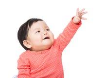 Азиатская верхняя часть касания ребёнка Стоковое Фото