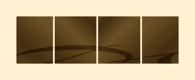 азиатская воодушевленность обшивает панелями sepia Стоковые Изображения RF