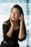 азиатская вызывая девушка Стоковые Изображения RF