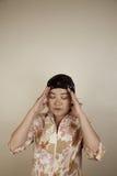 азиатская глубокая женщина мысли Стоковое фото RF