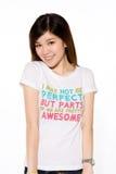 азиатская девушка вскользь одежд шаловливая Стоковые Фото