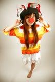 азиатская девушка клоуна Стоковые Изображения