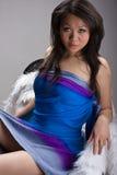 азиатская девушка стула сексуальная Стоковые Изображения