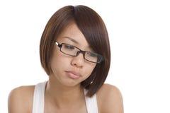 азиатская девушка унылая Стоковое Изображение