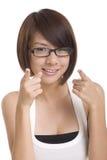 азиатская девушка Стоковое Изображение