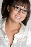азиатская девушка eyeglasses Стоковые Изображения
