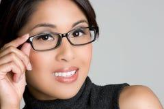 азиатская девушка eyeglasses Стоковое Изображение