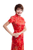 Азиатская девушка в китайском платье cheongsam стоковая фотография