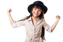 азиатская девушка счастливая немногая Стоковое Изображение