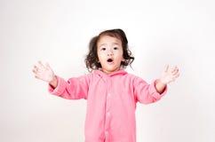 азиатская девушка удивила Стоковые Изображения
